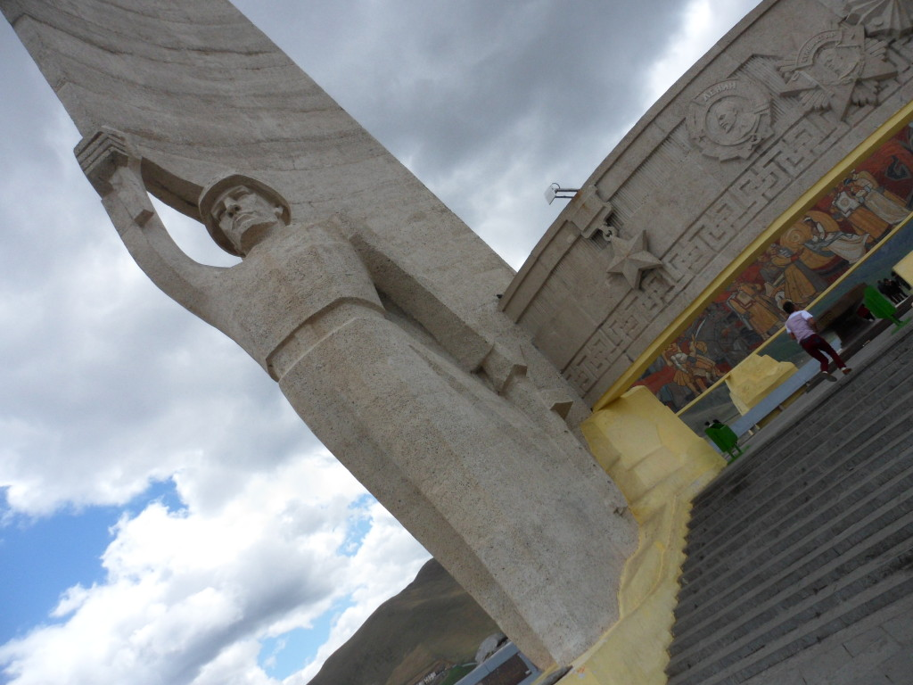 Very Soviet style monument to Mongolian/Russian cooperation in World War II