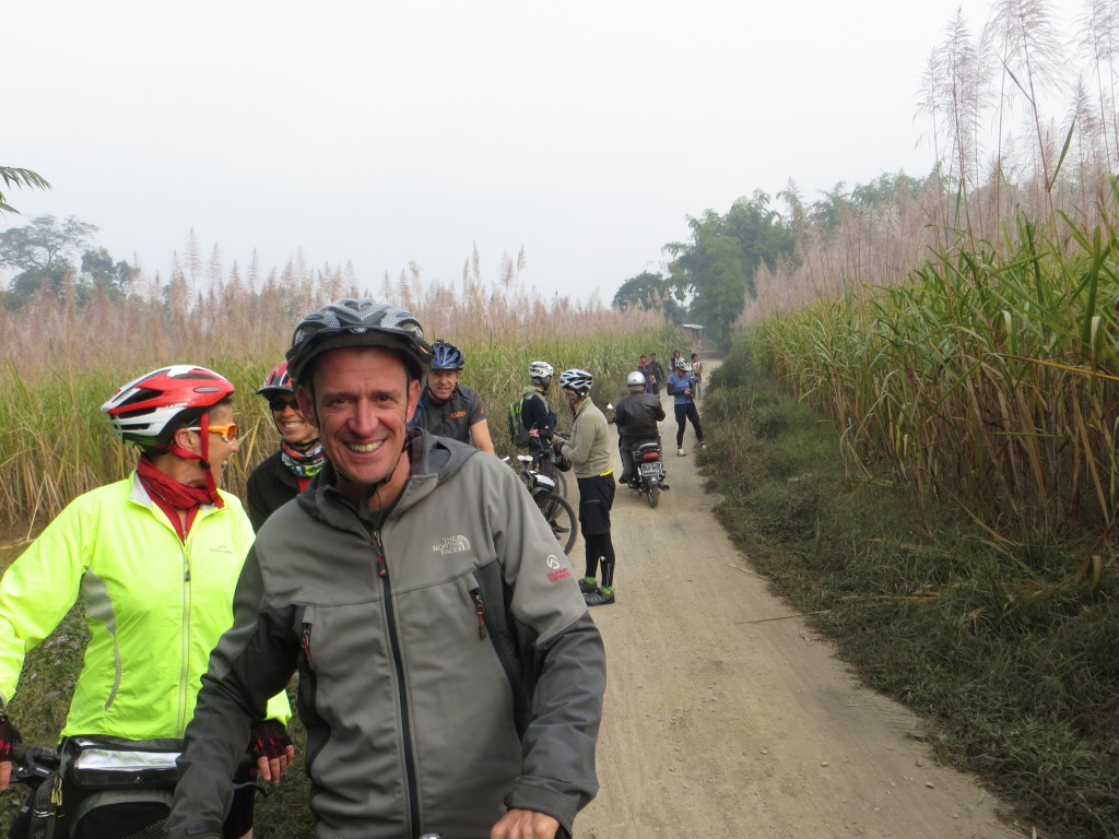 The short ride we did passed through endless fields of sugar cane. At a distance, the fronds on top made it look as though they were covered in frost, which wasn't too implausible given the temperature.