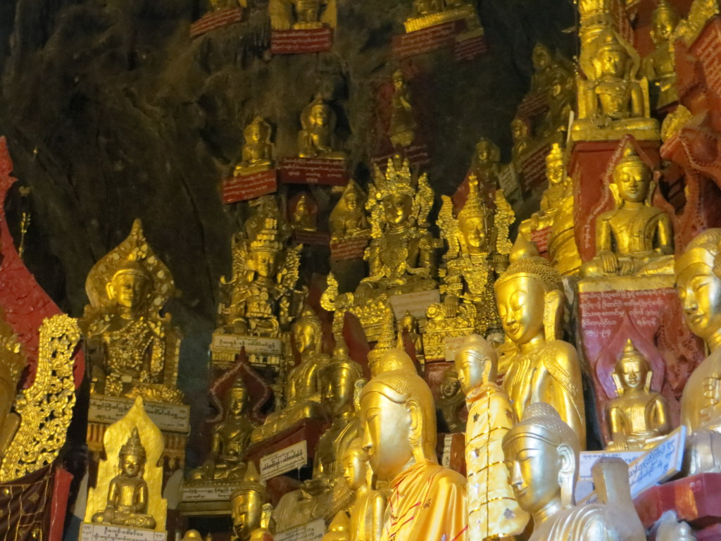 Some of the 8,000-plus Buddha images in the Golden Cave
