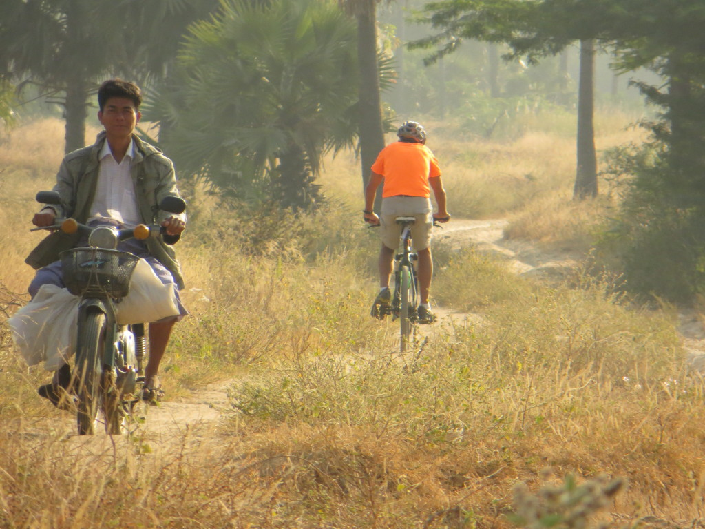 One of our last days of biking took us through some tough sandy roads on the outskirts of Bagan.