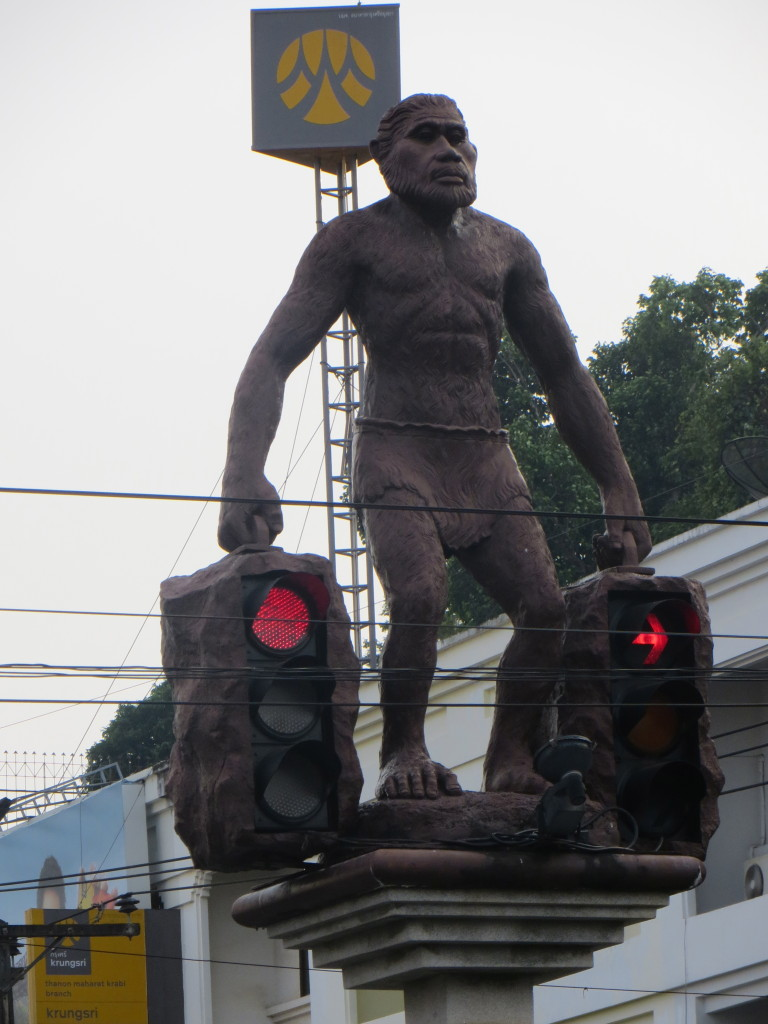 And lest we don't give Krabi its due, as we passed through the town en route to Ao Nang we saw this, the most unusual traffic light in the world.