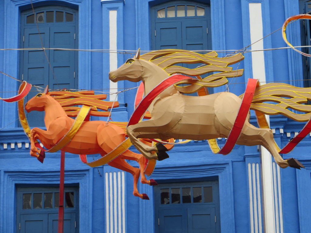 Imagine our surprise to learn that Chinese New Year's - bringing in the Year of the Horse - is the day-after-tomorrow. There are horses all over the city.