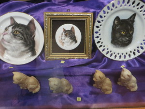 """A small sampling of the numerous """"artifacts"""" at the Cat Museum"""