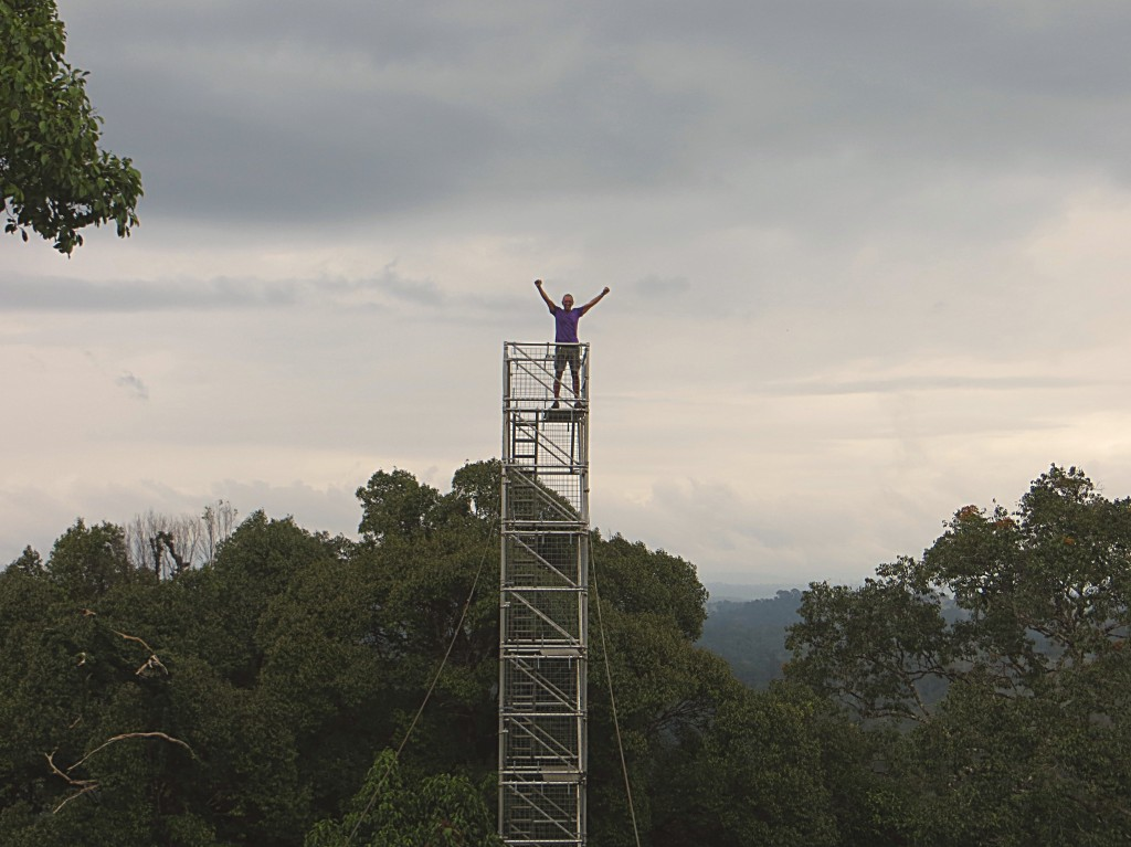 Jim atop one of the towers. Definitely feeling on top of the world.