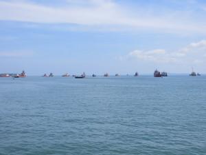We took a five-hour boat ride through the South China Sea to Kota Kinabalu in eastern Malaysia