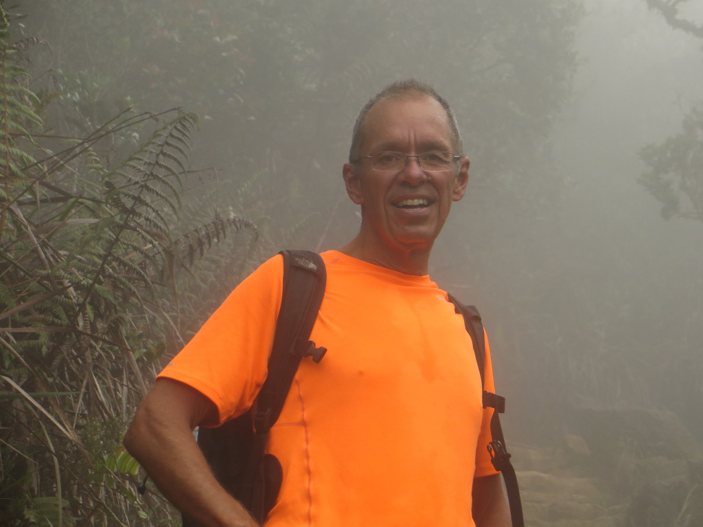 As we climbed we got into the cloud forest