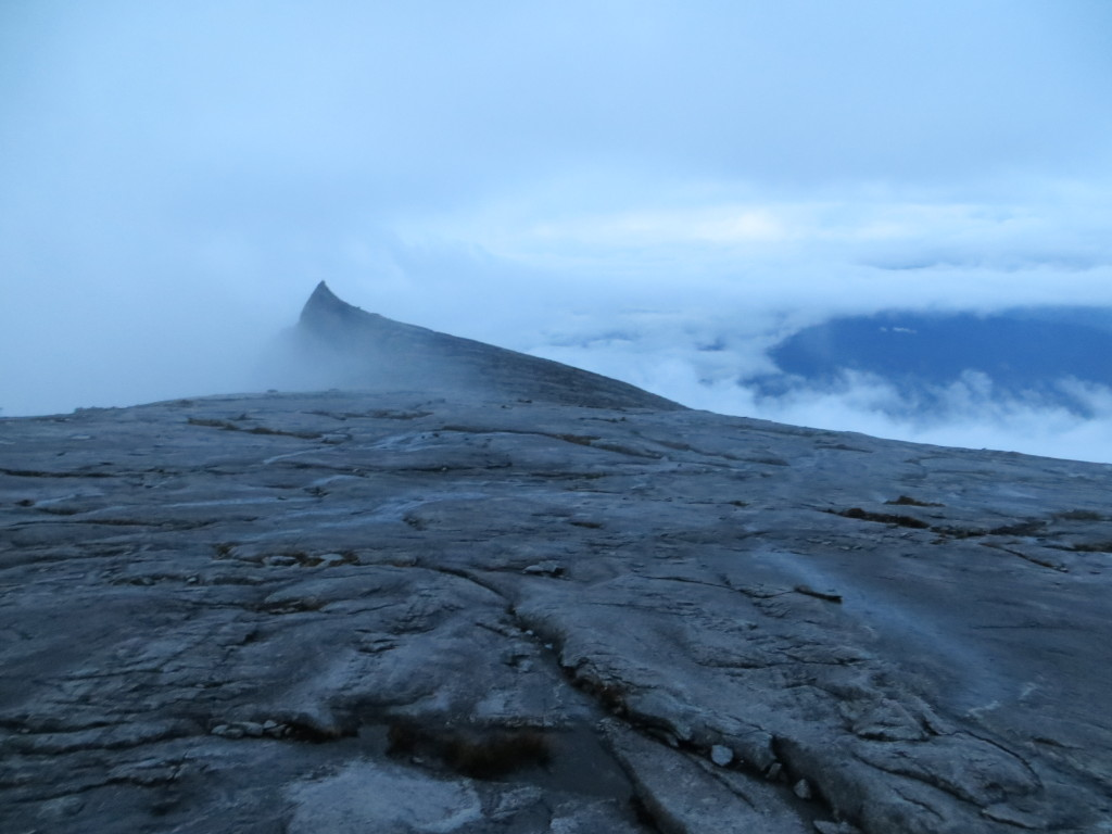 This was daybreak after we'd started the descent. The landscape up there was surreal.