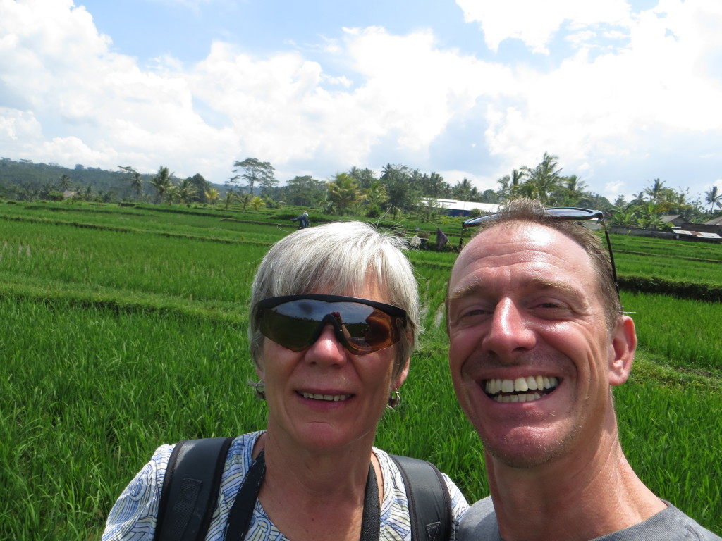 And a nice selfie of my friend Jean and Mark out in a rice field