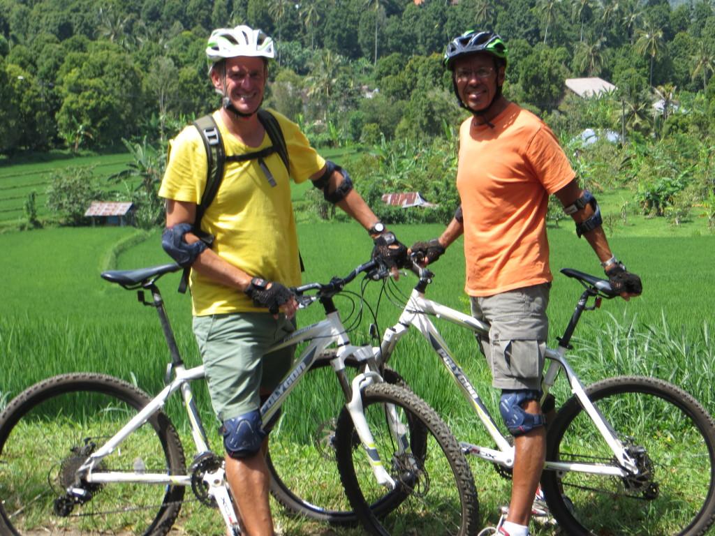 Riding through Bali