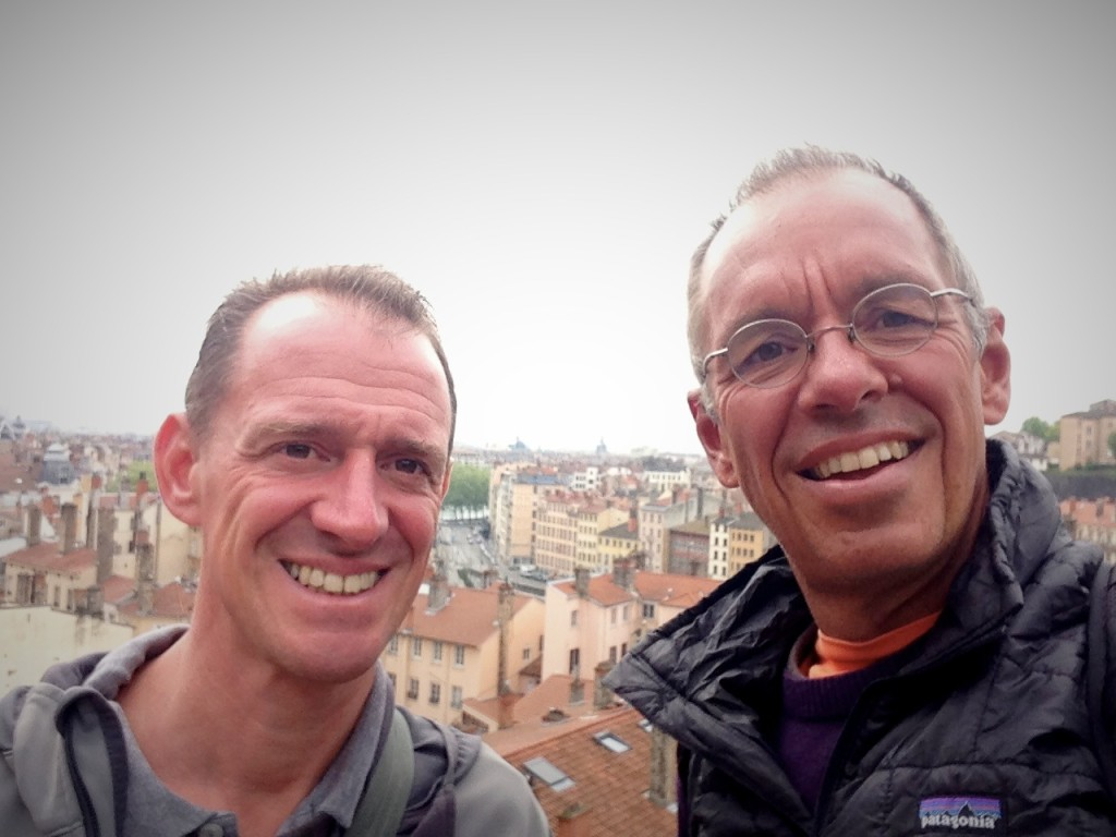 Our Lyonaise selfie, from a hill above the old city