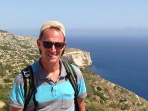 Mark at the Dingli Cliffs
