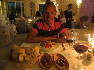 One of the highlights of Tunisia was the food. Some of the local salads were phenomenal, and always plenty of olives and harissa when you sit down. Even the local wine was good!