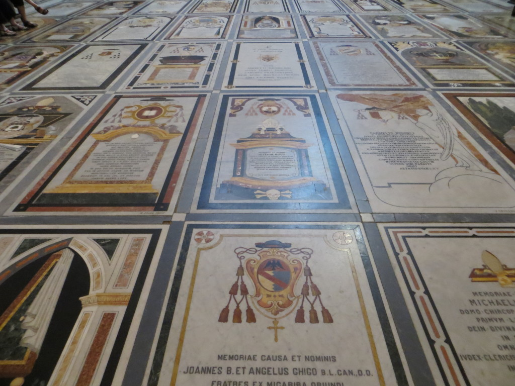 St. Paul's Cathedral in Mdina was beautiful. This is the floor, wall-to-wall with tombs.