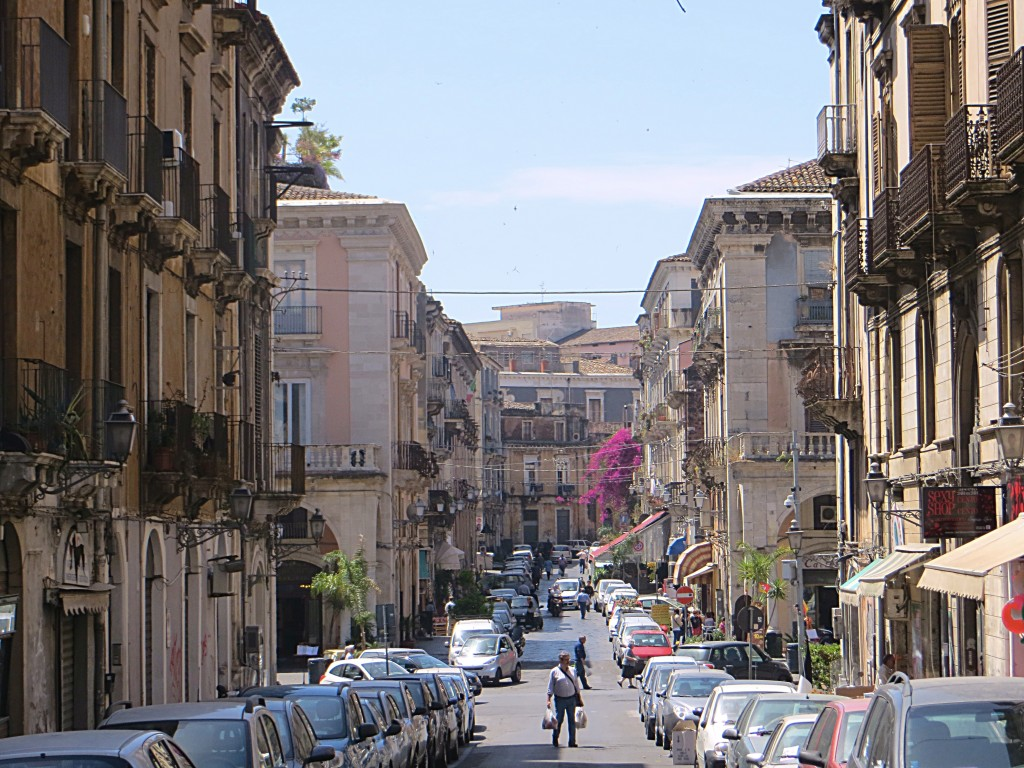 The grand baroque streets of Catania