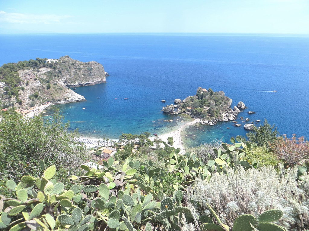 The stunning coastal scenery below Taormina