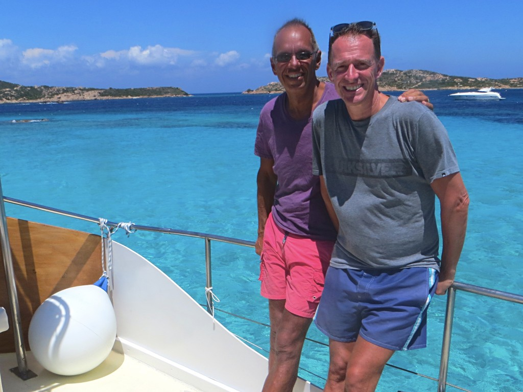 Posing in front of even more incredible turquoise water