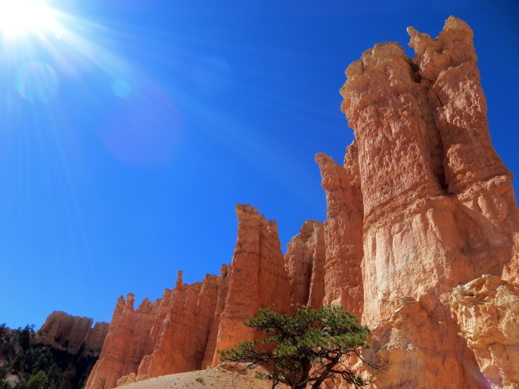 Blue skies and red rocks