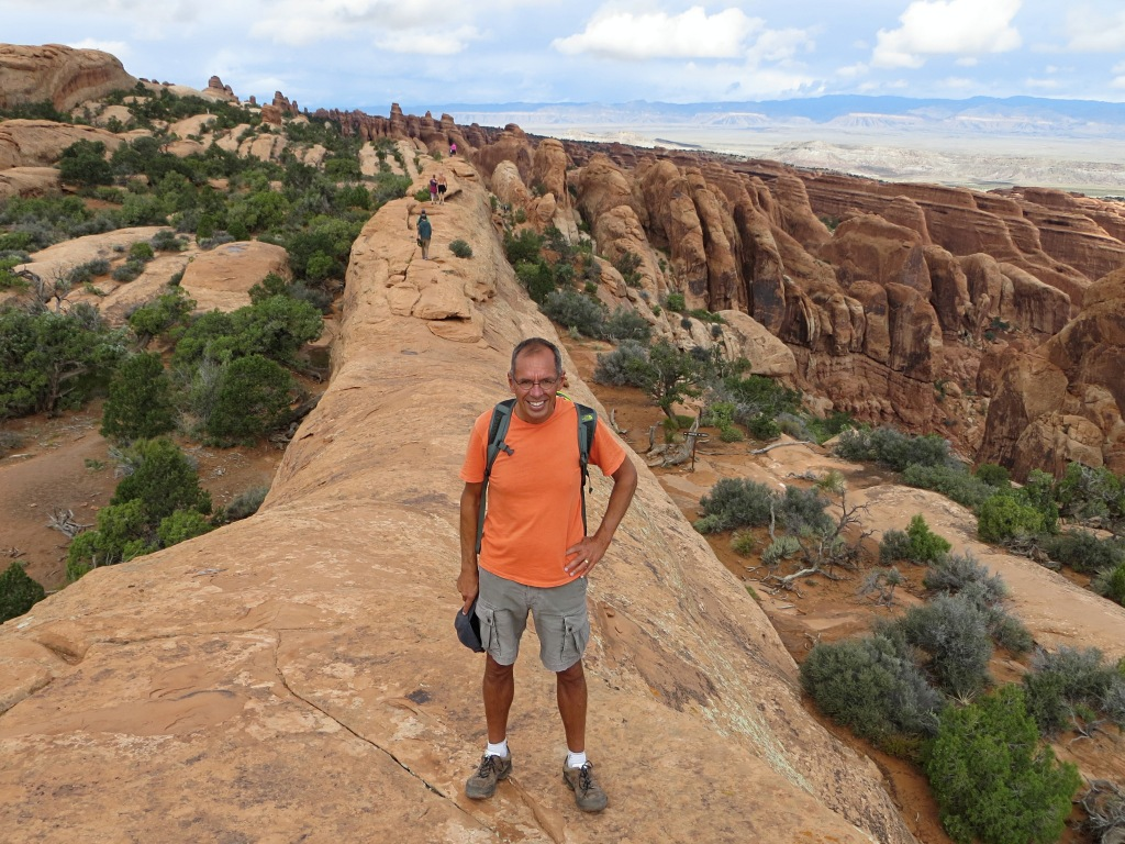 Jim navigates yet another stunning path through Arches National Park