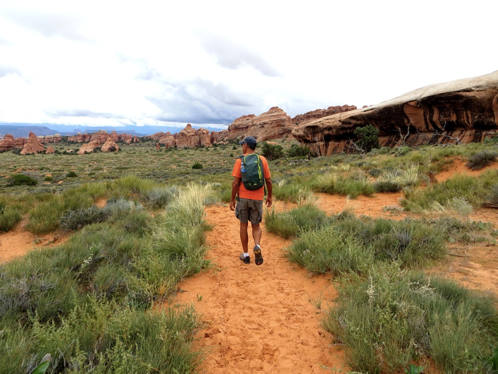 Incredible hiking through Arches National Park