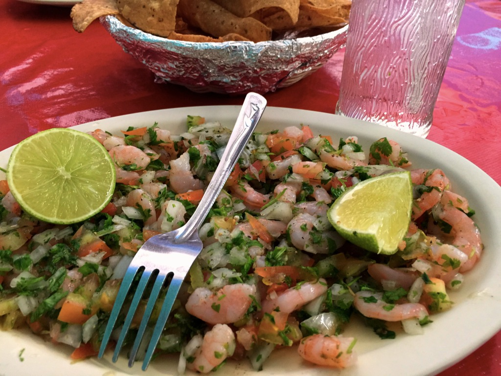 We had some great ceviche  at a little hole-in-the-wall that served, primarily, ceviche. While we were eating there was a guy behind the counter polishing his shoes, which we thought was odd.