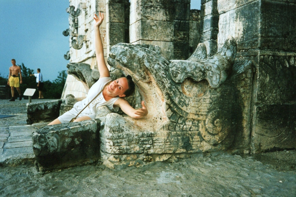 You can't have fun like this any more at Chichen Itza