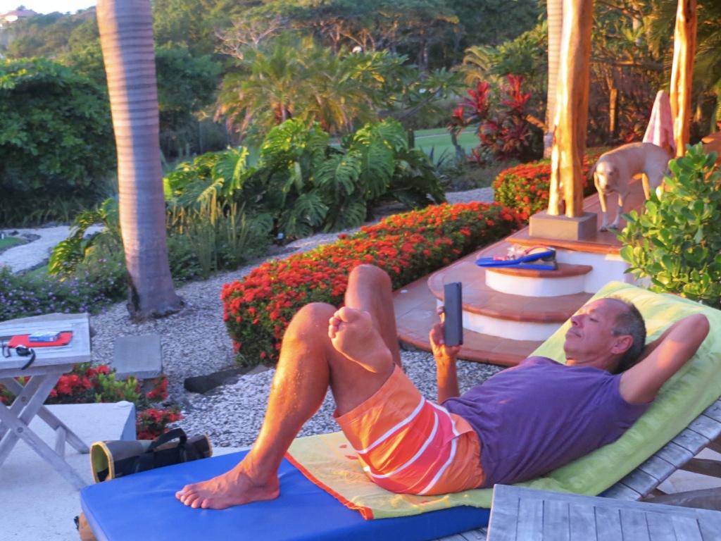 Jim chilling before dinner