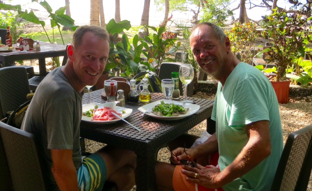 Enjoying a stunning seafood lunch beachside at La Casita de Marisco, the little house of seafood