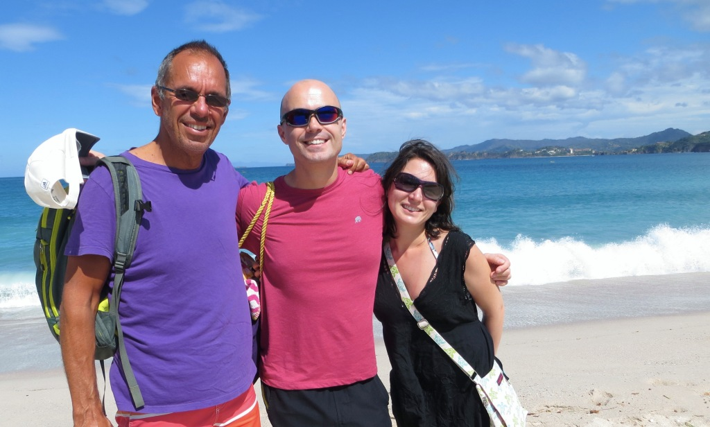 Jim, Vlad, and Alex take in the gorgeous turquoise waters at Playa Conchal