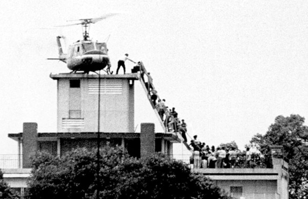 You'll recall this iconic photo of the last Americans escaping Saigon on April 29, 1975, as the troops from the North moved in. This is often described as people escaping from the Embassy, but in fact it was a building where many Americans - in particular CIA operatives - lived a few blocks from the embassy. A fitting example of how we got lots and lots of things wrong in Vietnam.