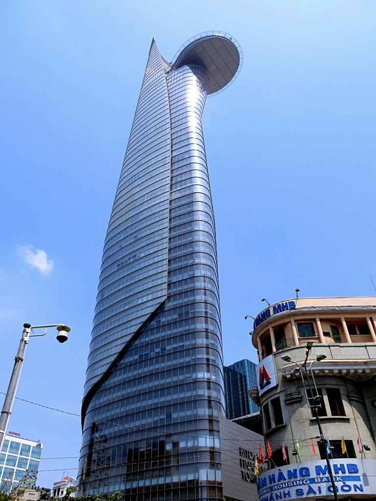The Bitexco Financial Tower, emblem of the new Saigon. It's supposed to resemble a lotus flower, but I'm not seeing that.
