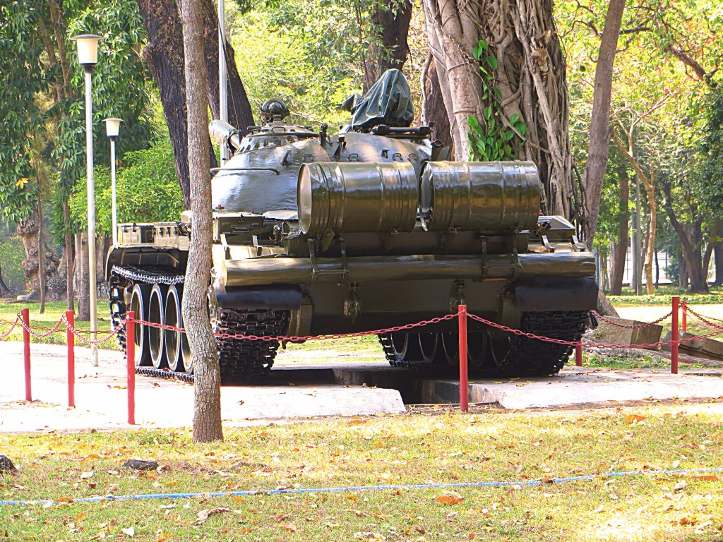 This is the tank that rammed through the gate of the Presidential Palace 40 years ago this April, signaling the final victory of the North