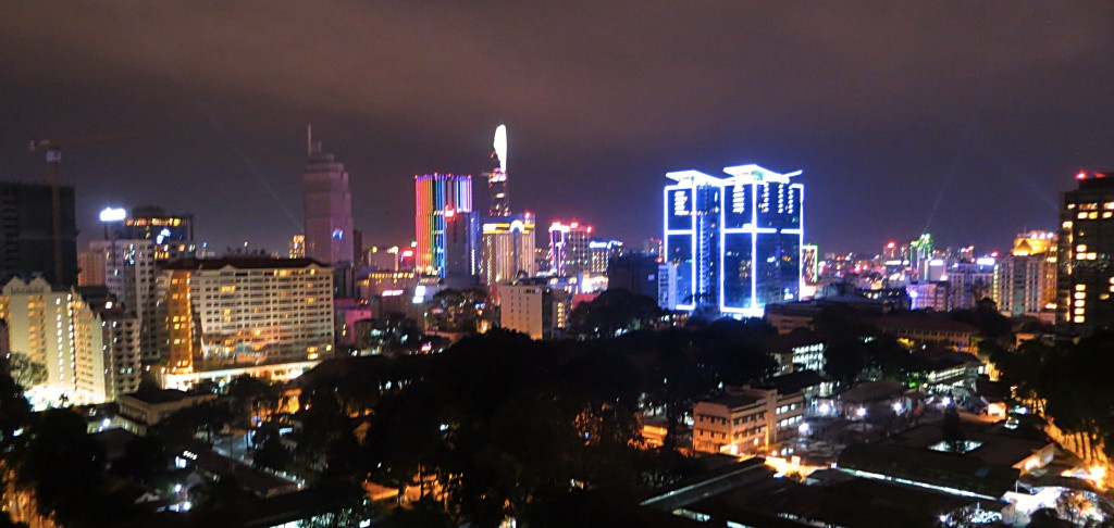 And finally, the night view from our hotel room. Goodnight, Saigon!