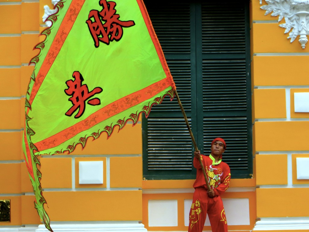 As Tet is winding down there was a colorful show outside the Central Post Office