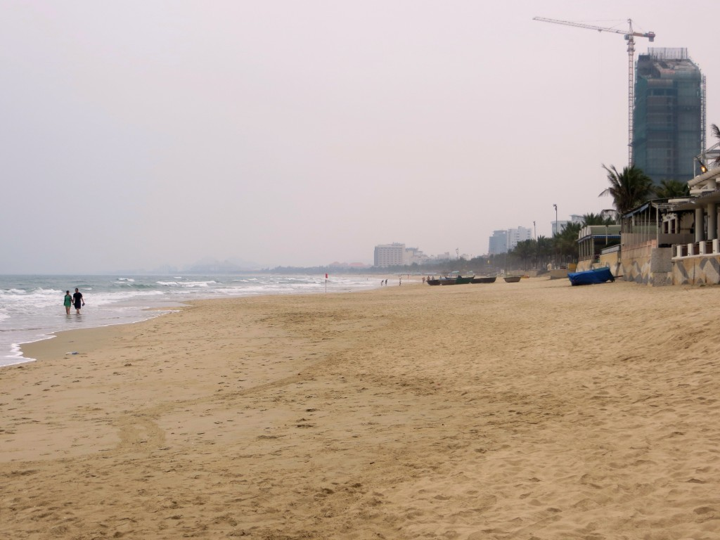 The long, long beach of Danang. Hard to believe this was the center of such fighting just a few decades ago.