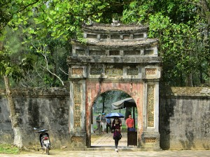 Entrance to one of the mausoleums. I'm sure I was supposed to know which emperor's final resting place this was...