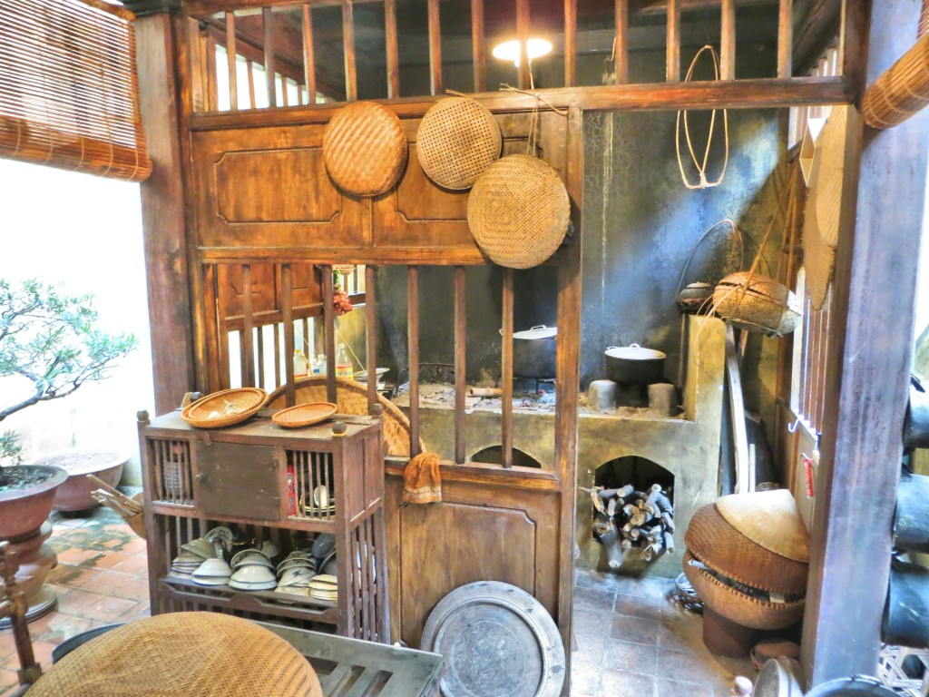 """The kitchen in a classic, renovated """"merchant's home"""" in the old section of the city. After the communists took over, the house was used by five families, all cooking in this one kitchen."""