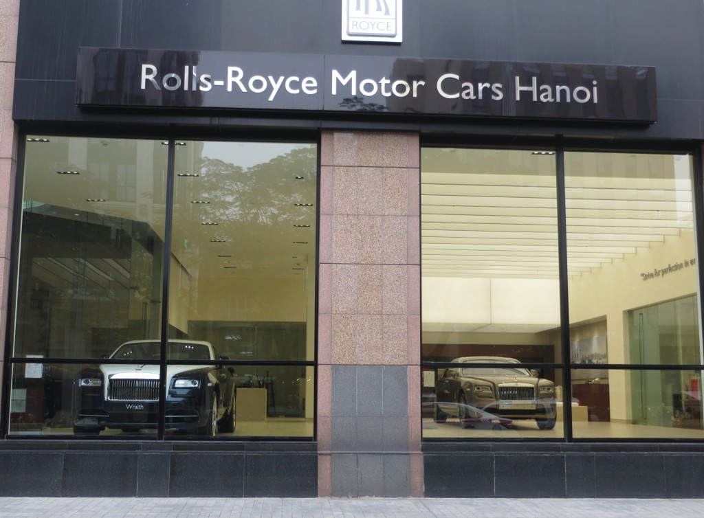 One wonders just precisely what it means to have a Rolls Royce dealership in a Communist country