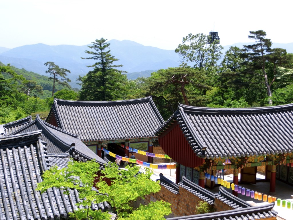 A highlight was our journey to Beomeo-sa, a Buddhist temple nestled in the mountains north of the main part of the city. Getting there consisted of a subway ride going something like 15 stops, connecting to another subway line going 14 stops or so, and then catching a taxi (up) and a bus (down), but it was very much worth it.