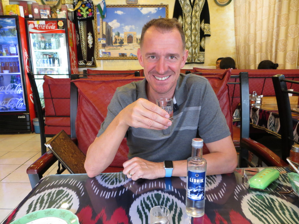 While in Seoul we stumbled onto a little Russian enclave and ended up having lunch at a great little Uzbek restaurant. Meals from that part of the world require vodka so we complied.