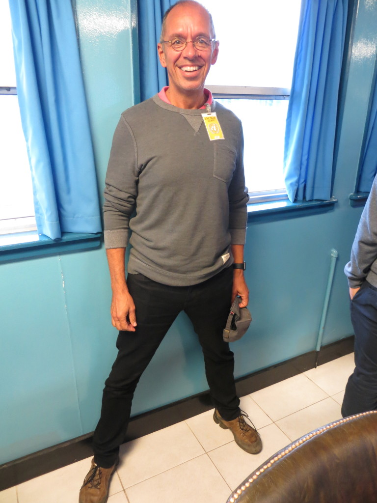 Here I am in the Joint Security Area straddling the border. My left foot is in South Korea, my right foot in the North.