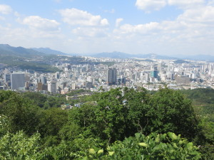 A sliver of Seoul from atop Namsan Park