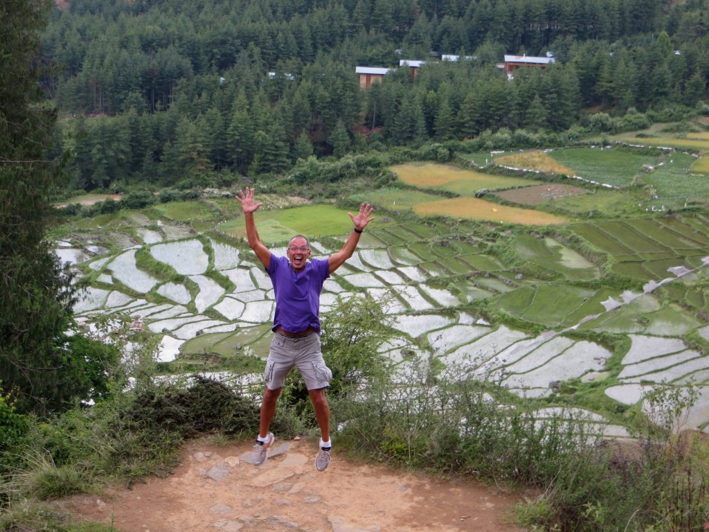 Jim gets very excited by rice terraces.