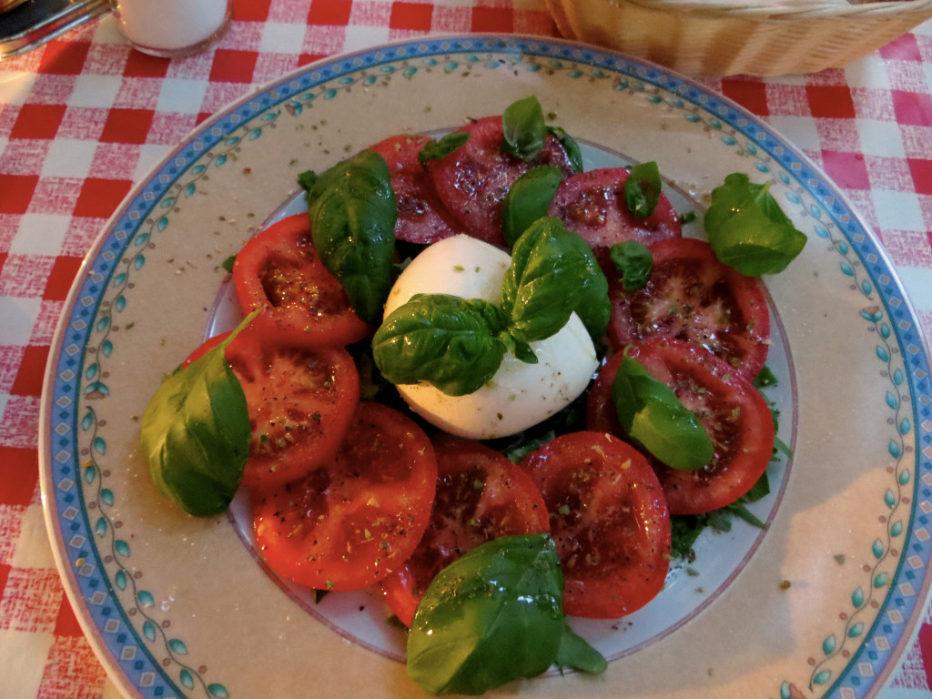 And speaking of great restaurants, this was one of the best Caprese salads I've had outside of Italy