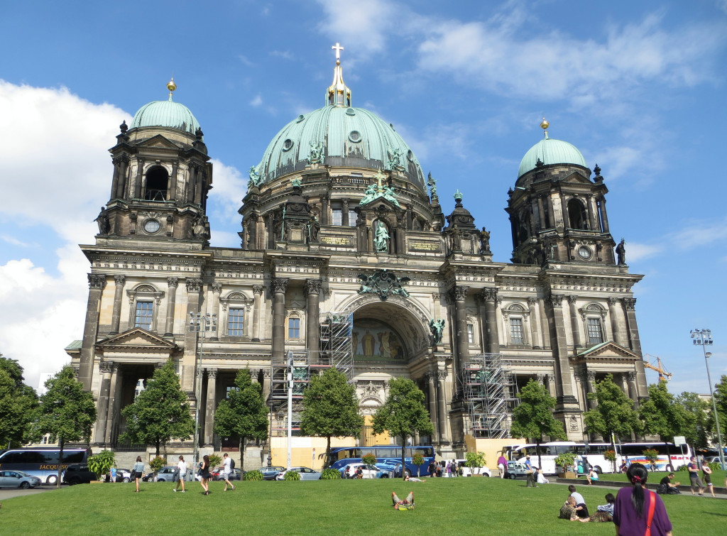 "The Berlin Cathedral in all it's glory. We climbed to the  top for some great views. And yes, that's a tiny speck of me ""reading"" in the grass afterwards."