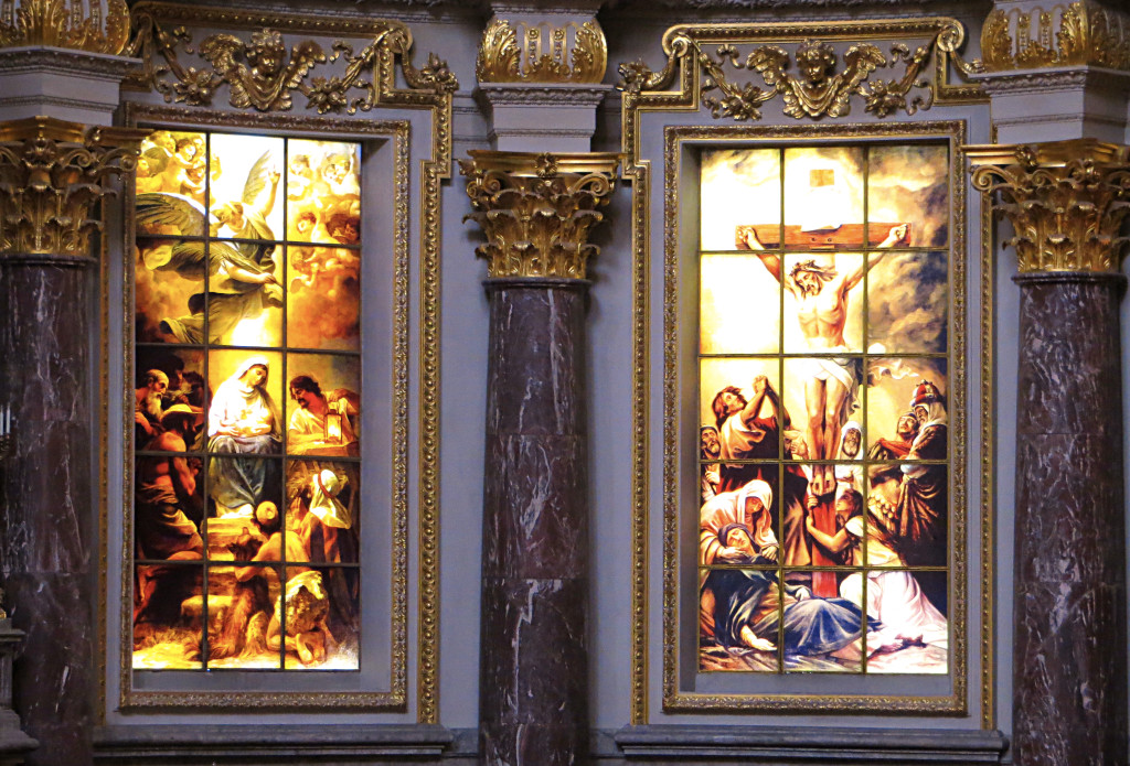 A small sample of the great stained glass inside the Berlin Cathedral