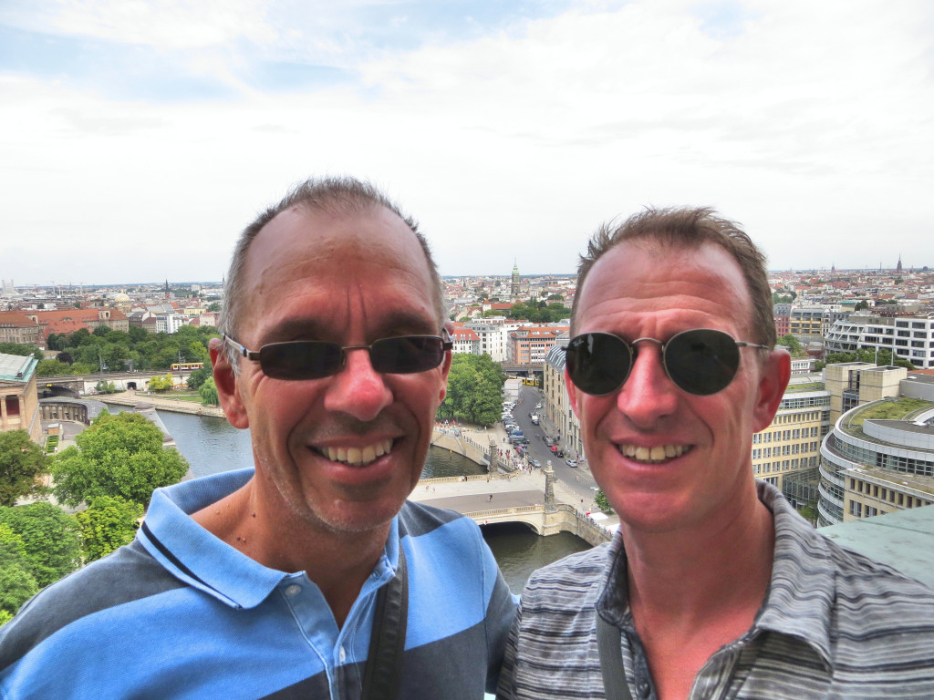 And finally, the traveloholics themselves atop the Berlin Cathedral, overlooking Museum Island