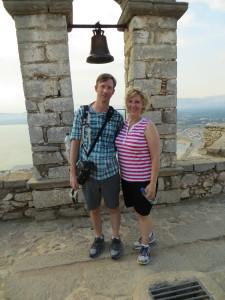 Dan & Laura, having successfully climbed the fortress