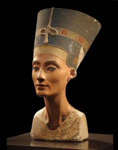 A professional photo of the stunning Nefertiti, the most beautiful 3,300-year-old woman ever.