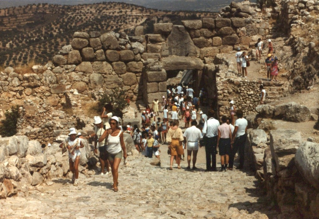 And while I'm posting old pictures, Mark was showing us some pictures from his 1984 trip to Europe when Dan noticed that this was the back of Lion's Gate. You see, Mark didn't know he'd been to Mycenae previously; it was only when faced with photographic evidence that he concluded he apparently had been there 31 years earlier.