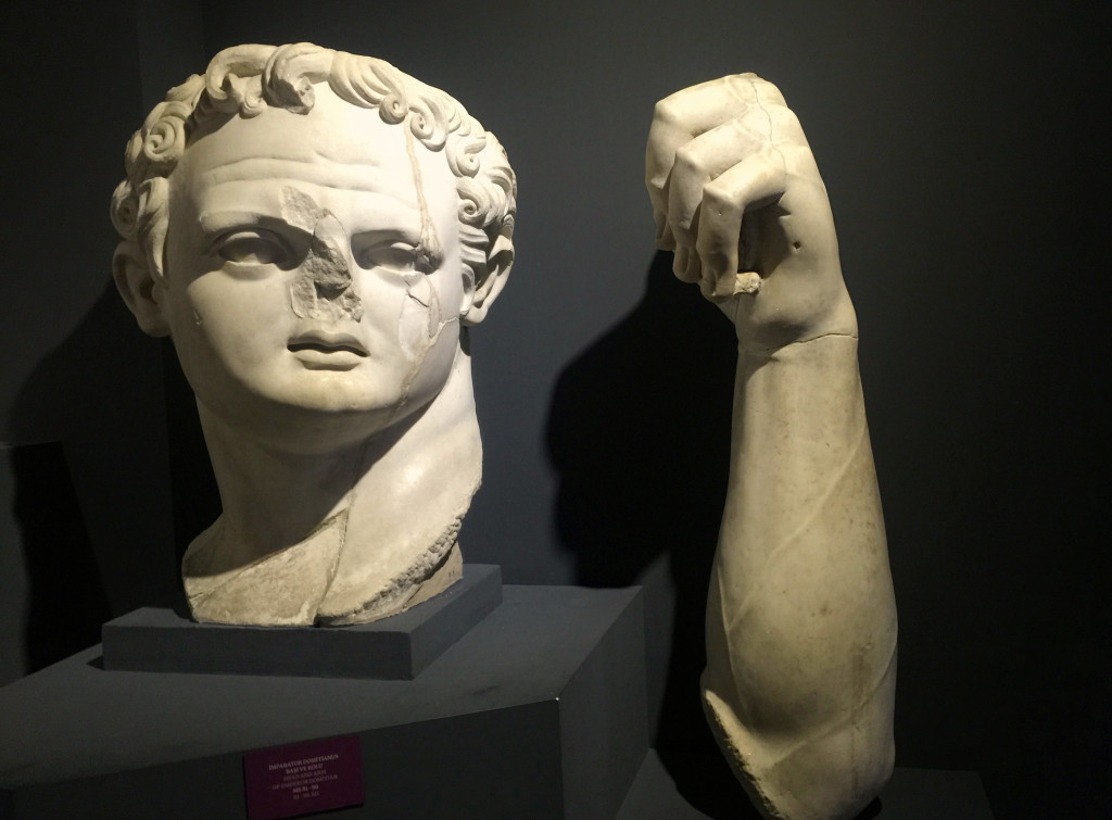 And this huge head and arm from a statue of the Emperor Domitian from the late 1st century AD